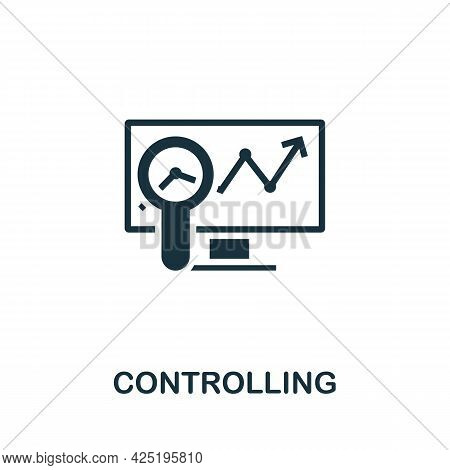 Controlling Icon. Simple Creative Element. Filled Monochrome Controlling Icon For Templates, Infogra