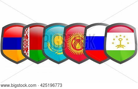 Collective Security Treaty Organization, Military Alliance With 6 Former Soviet Republics, 3d Render