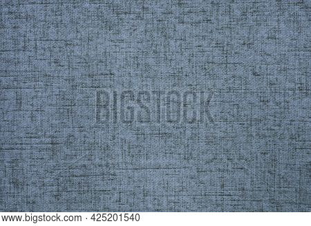 Hessian Sackcloth Canvas Woven Texture Pattern Background In Light Blue Or Teal Color