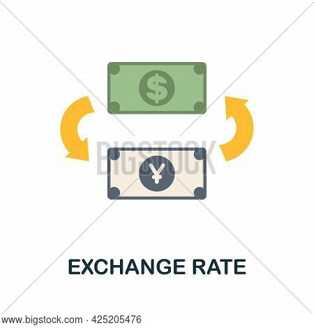 Exchange Rate Icon. Flat Sign Element From Credit Collection. Creative Exchange Rate Icon For Web De