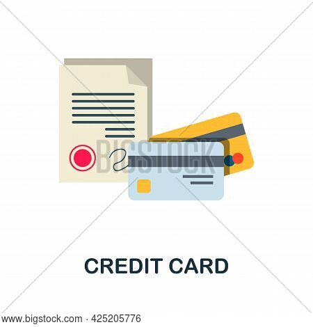 Credit Card Icon. Flat Sign Element From Credit Collection. Creative Credit Card Icon For Web Design
