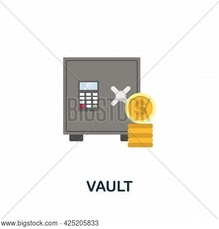 Vault Icon. Flat Sign Element From Credit Collection. Creative Vault Icon For Web Design, Templates,
