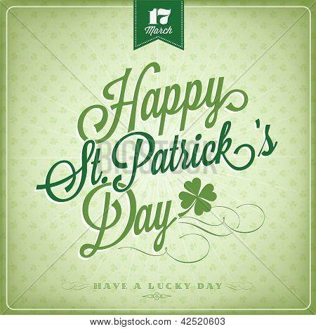 Happy Saint Patrick's Day Vintage Background