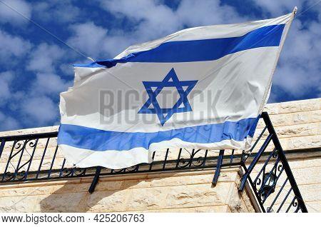Original Flag Of Israel: Official Israel Flag.