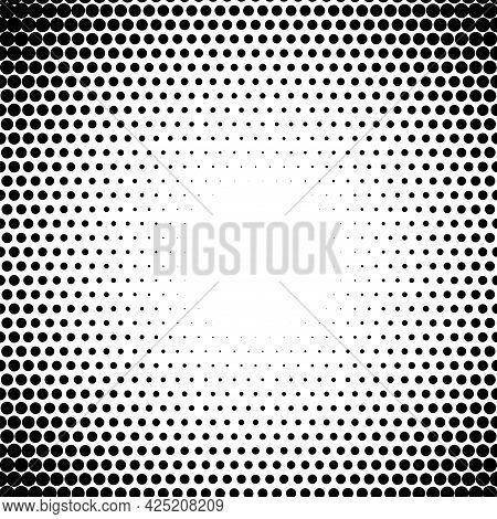 Circle Fade Halftone Dots Pattern Radiate Half Tone Gradient Element