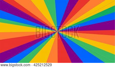 Lgbt Flag. Poster, Banner Or Rainbow Flag Of Lgbt. Colorful Rainbow Lgbt Flag For Pride. Print For T