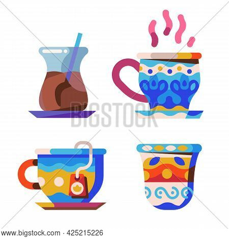 Middle Eastern And Arabic Tea And Coffee Cups