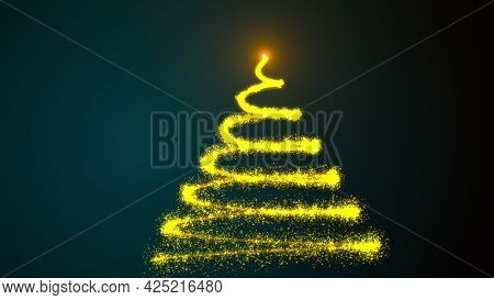 Animated Festive Christmas Background With Tree. Just Add Your Christmas Title, Wishes Or Logo