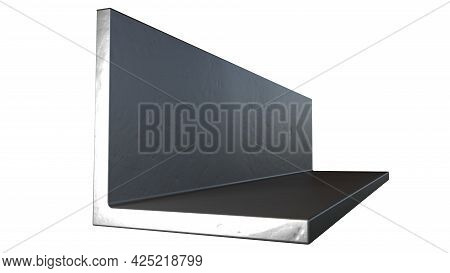 L-bar Metal Profile - Isolated Concept Industrial 3d Rendering