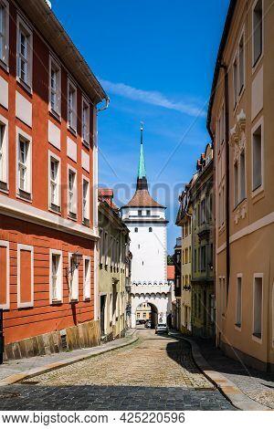 Bautzen, Germany - June 28, 2021: Town Bautzen With His Historical Oldtown In Germany