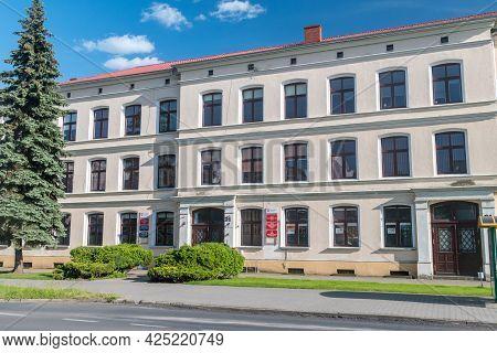 Pila, Poland - May 31, 2021: Bydgoska 21 Office Building In Pila City.