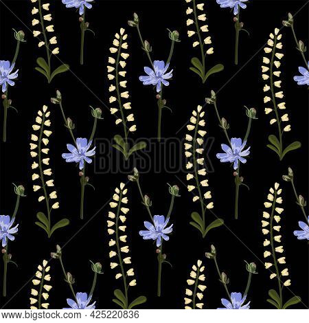 Floral Pattern. Modern Floral Shapes Seamless Pattern. Modern Exotic Designs For Paper, Cover, Fabri