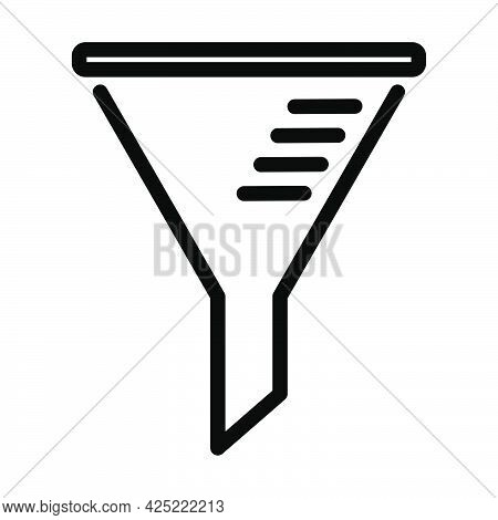 Icon Of Chemistry Filler Cone. Bold Outline Design With Editable Stroke Width. Vector Illustration.
