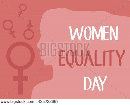 Feministic Women Illustration, Gender Equality Concept. International Women Equality Day Design For