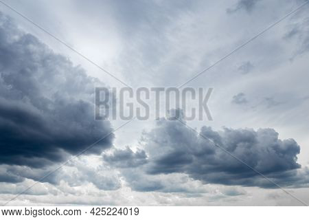 Sky. Clouds In The Sky. Blurred Background. Texture. High Quality Photo