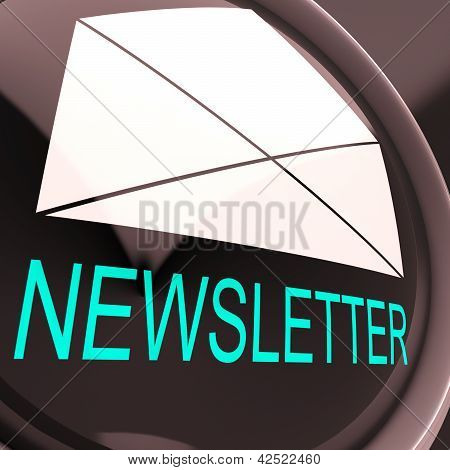 E-mail Newsletter Shows Letter Mailed Electronically Worldwide