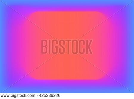 Abstract Background With Vibrant Gradient From Blue To Orange With Violet And Pink. Vivid And Fluid