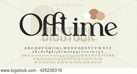 Modern Sans Serif Elegance Font. Classic Minimal High Contrast Wedding Font. Uppercase Only. Vector