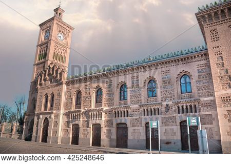 Toledo, Spain, March 27, 2019. Horizontal View Of The Chapel Located In The Toledo Train Station, Th