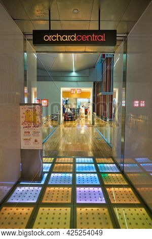 SINGAPORE - CIRCA JANUARY, 2020: entrance to Uniqlo store in Singapore.