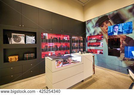 SINGAPORE - CIRCA JANUARY, 2020: interior shot of Leica store in Singapore.