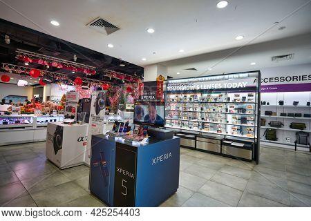 SINGAPORE - CIRCA JANUARY, 2020: interior shot of Sony Store in Singapore.