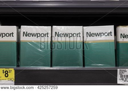 Indianapolis - Circa June 2021: Newport Menthol Cigarettes. The Fda Is Considering A Ban On Menthol