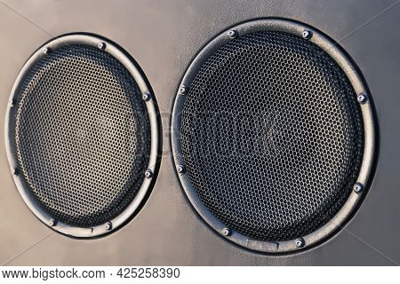 Car Speakers On The Car Door, Premium-class Acoustics For The Car, Tuning And Upgrading Of The Car
