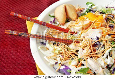 Asian Salad With Chopsticks