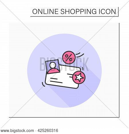 Loyalty Program Color Icon. Shopping Marketing Campaign Concept. Store Special Offer, Sales And Disc