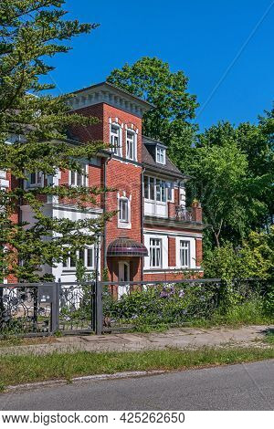 Berlin, Germany - June 3, 2021: One Of The Few Preserved Villas In The Settlement Schlachtensee, Dis