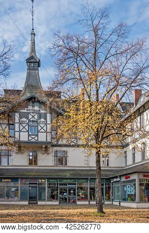 Berlin, Germany - October 25, 2020: Residential And Commercial Building Westbazar, A Listed Cultural