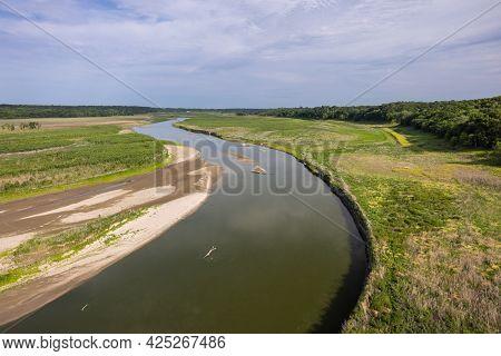 Des Moines River Scenic Landscape With An S Curve.