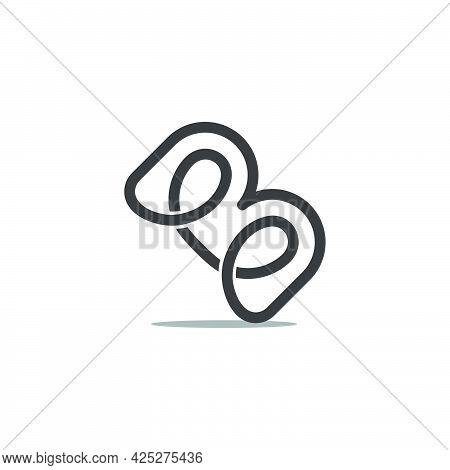 Abstract Letter Bm Infinity Line Abstract Loop Logo Vector