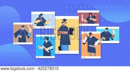 Graduated Students Happy Graduates Celebrating Academic Diploma Degree Education University Certific