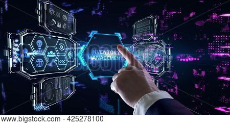 Business, Technology, Internet And Network Concept. Enterprise Resource Planning  Corporate Company