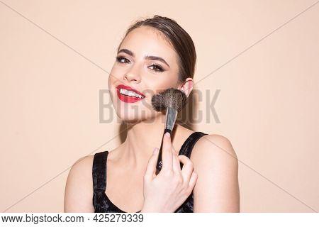 Beauty Portrait Of Beautiful Female Model. Woman With Beauty Face, Natural Skin, Facial Skin Portrai