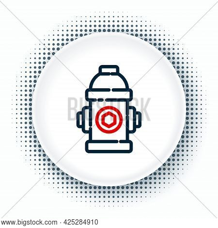 Line Fire Hydrant Icon Isolated On White Background. Colorful Outline Concept. Vector