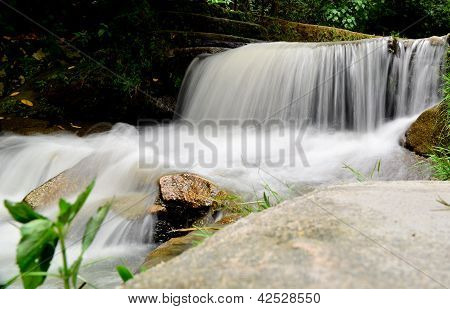 A small waterfall.