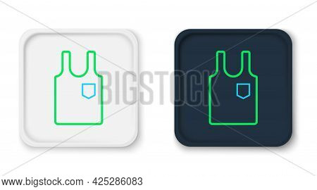 Line Sleeveless T-shirt Icon Isolated On White Background. Colorful Outline Concept. Vector