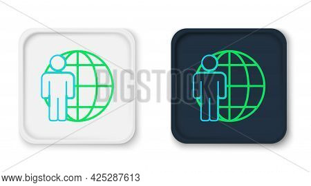 Line Head Hunting Icon Isolated On White Background. Business Target Or Employment Sign. Human Resou