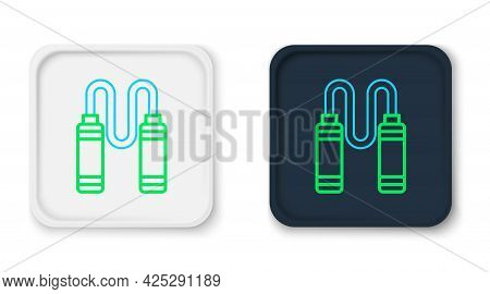 Line Jump Rope Icon Isolated On White Background. Skipping Rope. Sport Equipment. Colorful Outline C