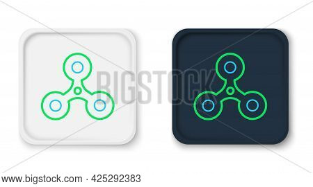 Line Fidget Spinner Icon Isolated On White Background. Stress Relieving Toy. Trendy Hand Spinner. Co
