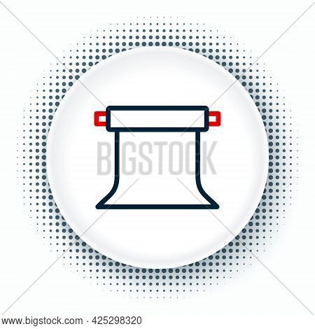 Line Empty Photo Studio Icon Isolated On White Background. Screen Backdrop. Colorful Outline Concept