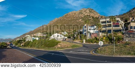 Gordons Bay, South Africa - April 12, 2021: Panoramic View Of Houses And Guest Houses Gordons Bay In