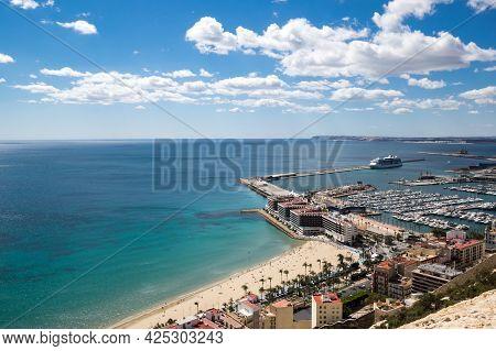 Panoramic View Of Alicante From Santa Barbara Castle, Spain