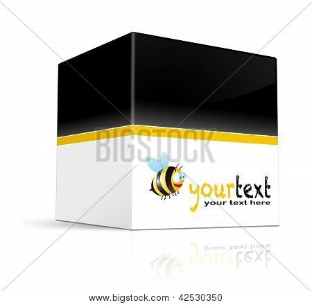 3D illustration of a box on a white background