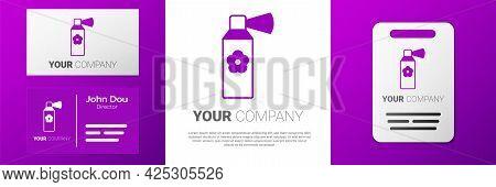 Logotype Air Freshener Spray Bottle Icon Isolated On White Background. Air Freshener Aerosol Bottle.