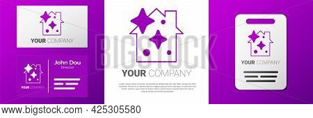 Logotype Home Cleaning Service Concept Icon Isolated On White Background. Building And House. Logo D