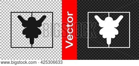 Black Rorschach Test Icon Isolated On Transparent Background. Psycho Diagnostic Inkblot Test Rorscha